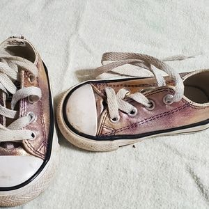 Converse Rose Gold in color